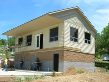 Shalom Retreat Center Multipurpose Building during build Mound City KS Christian Camp