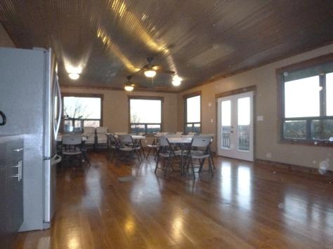 Multipurpose building interior Shalom Retreat Center Mound City KS