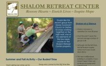 Shalom Retreat Center Newsletter December Mound City KS Christian Camp