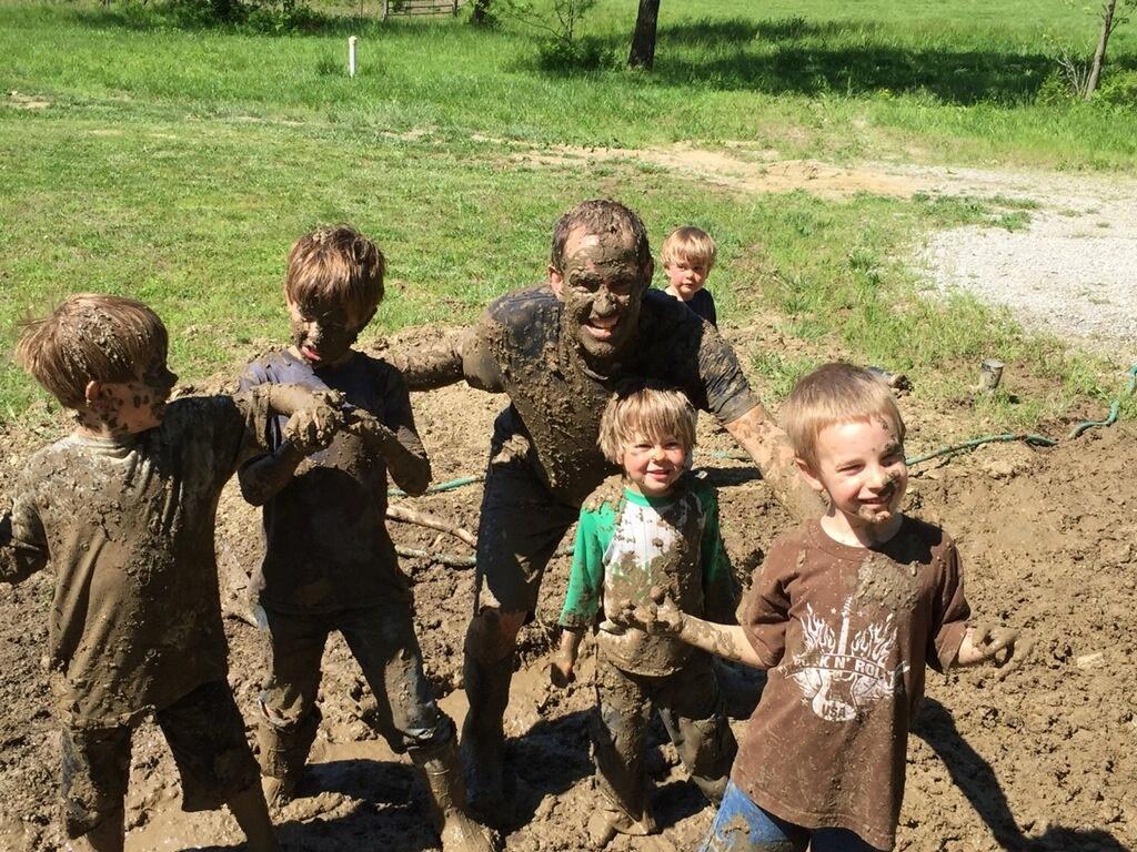 Mud fight Christian Camp Kansas City Shalom Retreat Center